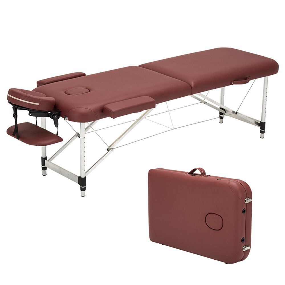 Angel Ultra Light Weight Sturdy Aluminum Frame 84L Portable Massage Table Facial SPA Bed Tattoo w/Free Carry Case, Face Cradle, Arm Rests (Cream White) Angel Canada