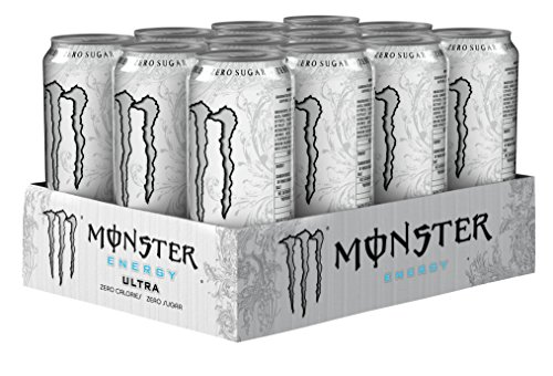 Monster – Energy Ultra – Energy Drink – 12 pakjes – 500 ml per pakje – Energy booster – Minder zoet – Lichter van smaak…