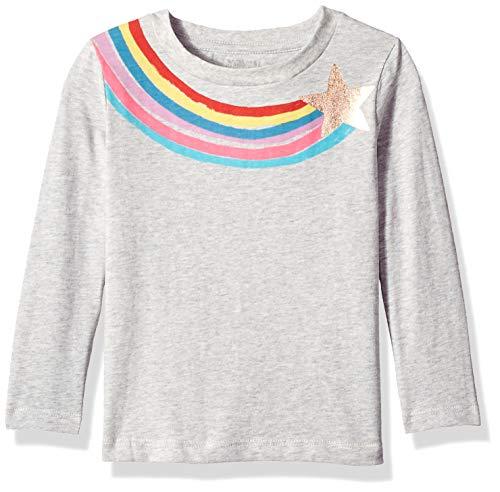 Gymboree 2t Girl - Gymboree Girls' Big Long Sleeve Graphic Tee, Rainbow Star, 2T