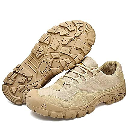 a0ea58ee189f2 Image Unavailable. Image not available for. Color: MELLOW SHOP Hiking Shoes  Outdoor Hunting Boots Men Waterproof Tactical ...