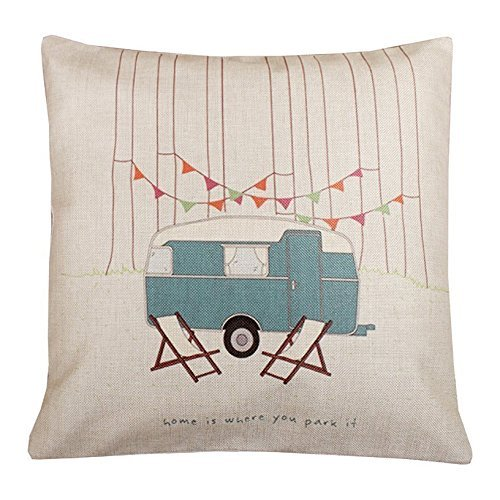 "Cotton Linen Square Throw Pillow Case Cushion Cover 18"" x 18"