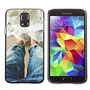 Paccase / SLIM PC / Aliminium Casa Carcasa Funda Case Cover para - Sun Water Surf Summer Waves - Samsung Galaxy S5 SM-G900