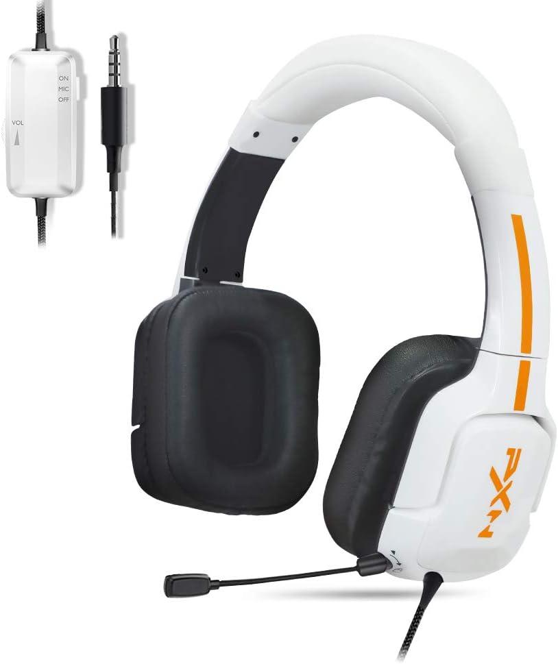 PXN U305 Kid Headphone with Microphone, Headphones for Kids with Safe Volume Limited 85dB/94dB, Adjustable Headband, Plug-in Microphone,Children Headphones for Boy/Girl/School/Travel/iPad