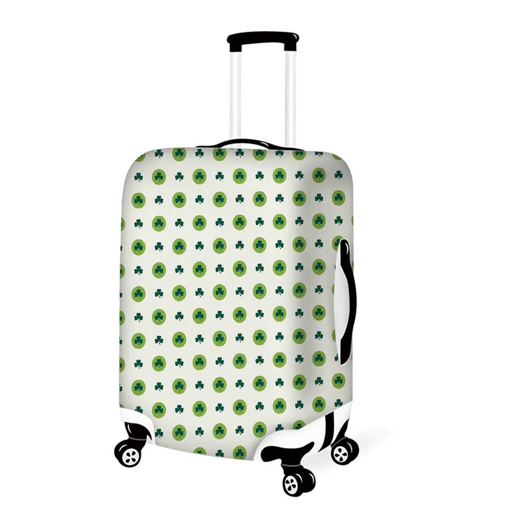 19.6W x 28.9H Floral Stylish Luggage Cover,Daffodil Petals in Contrast Tones Flourishing Floret Nostalgic Eastern Print for Luggage,M