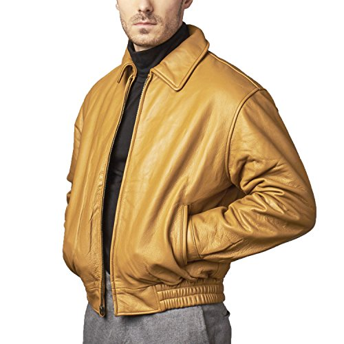 Men's Timber Leather Bomber Jacket