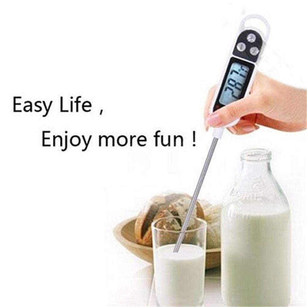 para fre/ír LCD digital anticorrosi/ón cocinar Term/ómetro para el hogar Term/ómetro para cocinar Term/ómetro para cocina Term/ómetro de cocina Lea instant/áneamente el term/ómetro con sonda larga asar
