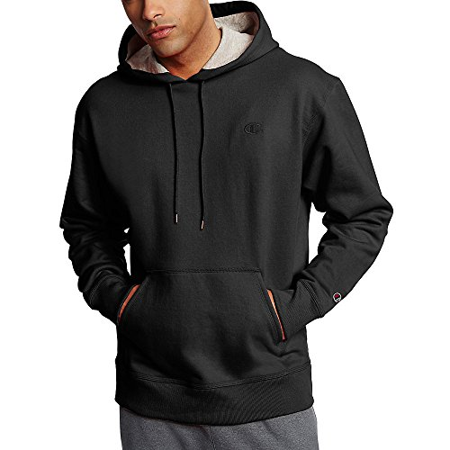 Champion Men's Powerblend Fleece Pullover Hoodie_Black_M