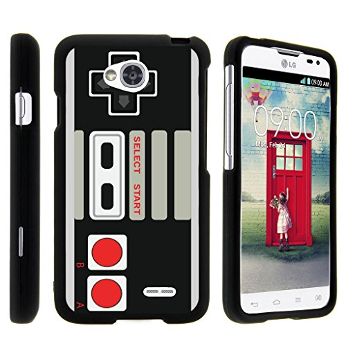 Cheap MINITURTLE Case Compatible w/ [LG Optimus L70 Case, Ultimate 2 Case, Optimus Exceed 2 Case][Snap Shell] Hard Plastic Slim Fitted Snap on case w/ Unique Designs Game Controller