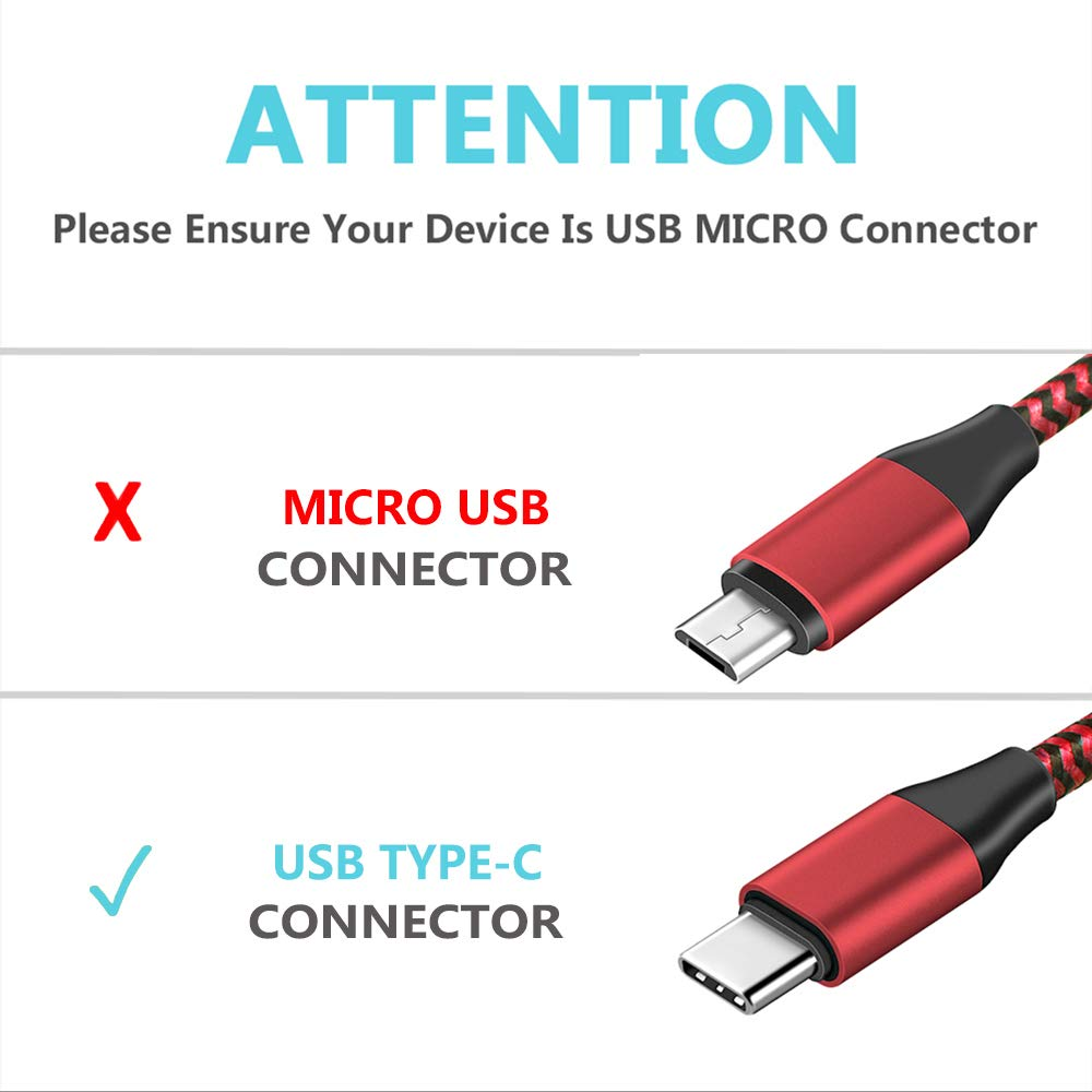 2019,2020 6FT 3A Fast USB C Nylon Braided Charger Cable Compatible for Kindle Fire 9th 10th Generation,New Fire HD 10 HD 8 HD 8 Plus Tablet,Kids Edition Tablet 2 Pack