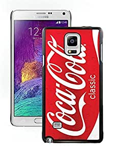 Beautiful Designed Case With Red Soda Style Coca Cola Black For Samsung Galaxy Note 4 N910A N910T N910P N910V N910R4 Phone Case