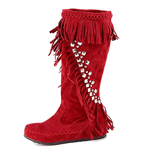 Boots Inside Metal Imitata Rosso Pelle Highen In Girls Ornament Balamasa Nappe qwZYEZC