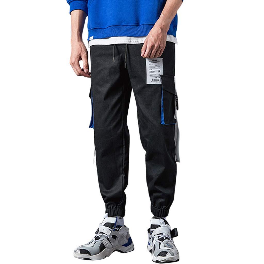 Aleola Men's Casual Loose Patchwork Pockets Outdoors Sports Long Pants (L) by Aleola_Men's Pants