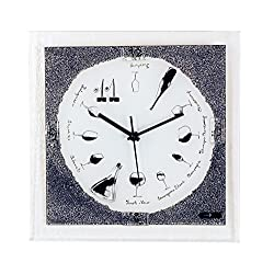 River City Clocks Wine Theme Glass Wall Clock
