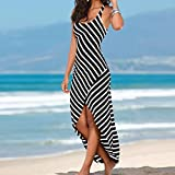 Beach Sleeveless Dress Long 2018 Stripes Dresses for Women Casual Sundress Loose by Topunder