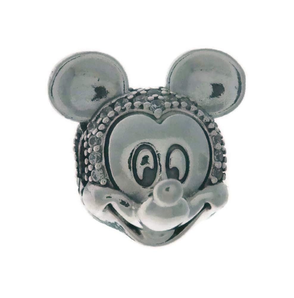 PANDORA Disney Shimmering Mickey Portrait 925 Sterling Silver Charm - 797495CZ