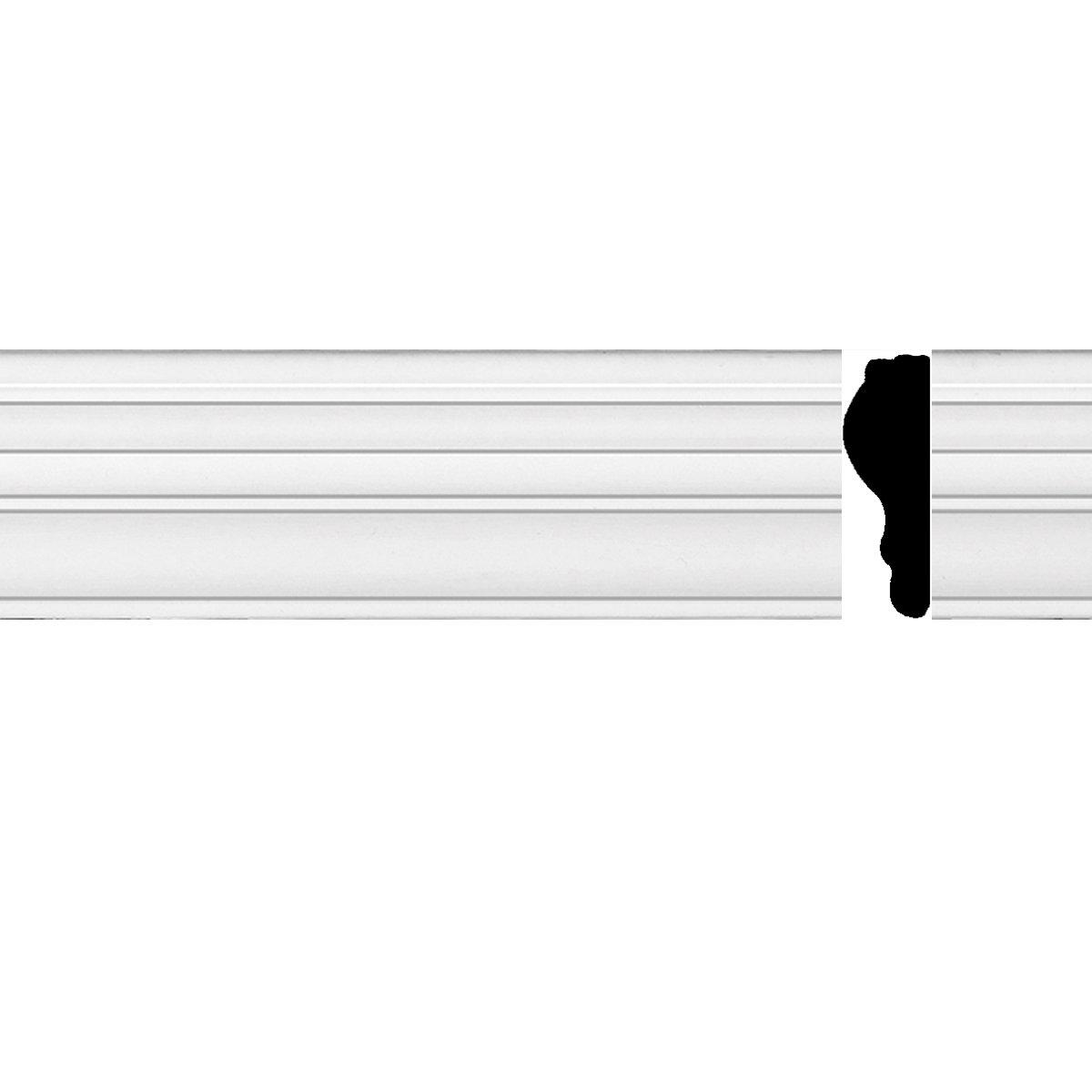 "Chair Rail White Urethane Molding 97"" X 1 3/4"" | Renovator's Supply"