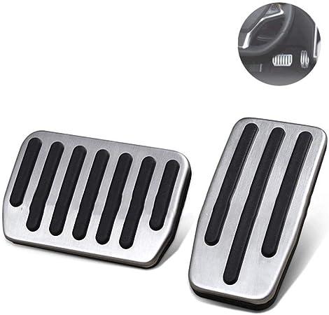 BougeRV Couvre P/édale pour Tesla Model 3 Accessoires Mod/èle 3 en Aluminium Acc/él/érateur Antid/érapant Coussinets de P/édale de Frein avec Tirettes en Caoutchouc pour Tesla Model 3