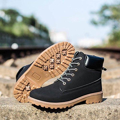 30%OFF Pulison(TM)Men Boy Winter Warm Casual Shoes Vintage Anti-slip Fur Lined Short Martin Ankle Boots
