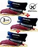 KITCHEN GADGET GIFT > Professional Just-4-Meat Tenderizer By XSpecial - Home Tool for Tenderizing & Flavor maximizer: Steak Beef Poultry (3 Packs,Black 48 Blades Stainless Steel,Individually Boxed)