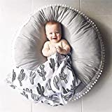 Baby Seat Lounger Pouf - Super Soft Toddler Floor Pillow Infant Newborn Seating Cushion & Play Mat,Round Crawling Mat for Kids Toddlers Bedroom