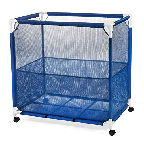 Pool Storage Bin, Pool Toy Storage Cart, Durable UV Resistant Fabric Resists Fading and Cracking, Medium Size 36 x 36 x 24, Bonus Mesh Bag Included]()