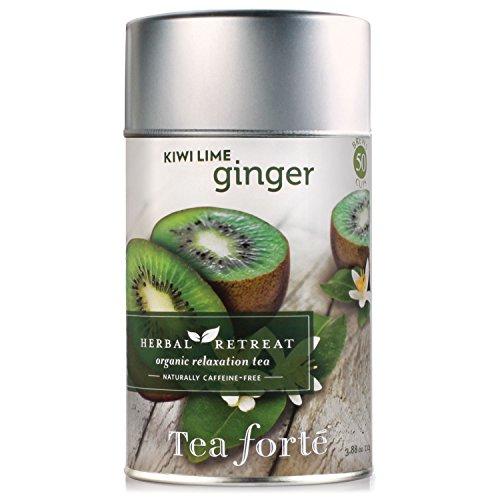 Tea Forte Herbal Retreat KIWI LIME GINGER Loose Leaf Organic Herbal Tea, 3.5 Ounce Tea Tin -  3910234