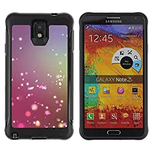 Fuerte Suave TPU GEL Caso Carcasa de Protección Funda para Samsung Note 3 / Business Style Dust Fairy Purple Blue Fog Focus