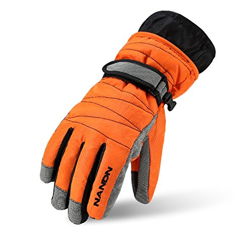 Winter Gloves -30°F Thermal Snow Work Ski Glove Windproof Waterproof Warm Hands in Cold Weather for Women and Men,Cold Resistant Glove with Velvet for Kids (xl/orange) (Gloves Winter Kombi)