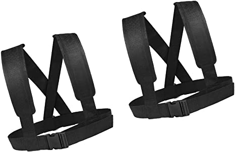 5 Pack High Strength Sled Harness Vest with 2m Pulling Strap Belt with Hooks