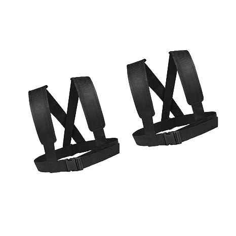 2pcs Sled Harness Vest Speed Strength Training Strap Belt Webbing Hook DRing