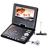 9.5″ Portable Color 16:9 TFT LCD DVD Player TV Receiver, with Game/USB/SD/MMC/MS Card reading, compatible with Mp4, DVD, SVCD, VCD, CD, Mp3 discr, etc