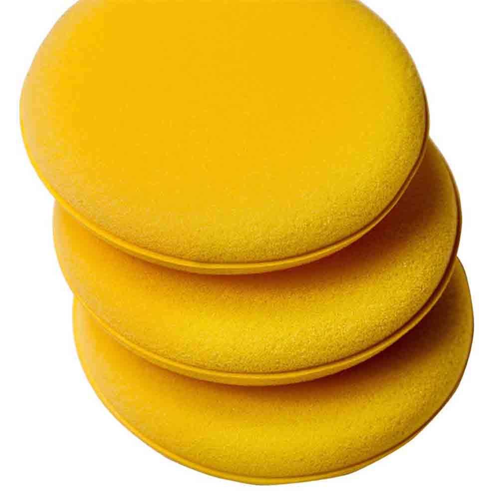 100mm*6mm 12pcs Waxing Polish Wax Foam Sponge Applicator Pads Fit for Clean Car Vehicle Auto Glass 3.75 Inches Across
