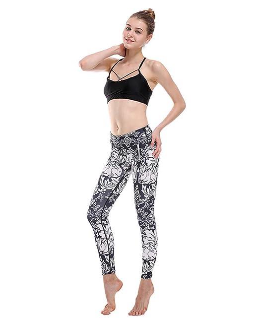 WLG Leggings de yoga para mujer estampados Leggings de ...