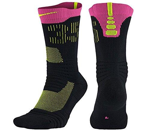Nike Men's KD 35 Elite Versatility Basketball Socks Large Black Hyper Pink