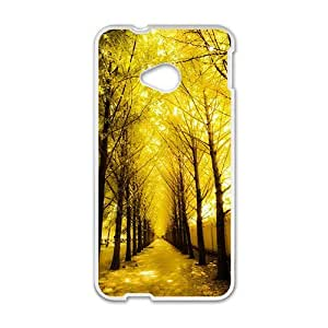 Happy Yellow tree Phone Case for HTC One M7 case