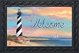 "Briarwood Lane Coastal Lighthouse Summer Doormat Welcome Pier Indoor Outdoor 18"" x 30"""