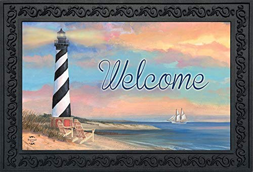 Briarwood Lane Coastal Lighthouse Summer Doormat Welcome Pier Indoor Outdoor 18