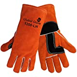 Global Glove 1200-LH Kevlar Sewn Premium Grade Shoulder Split Welder Left Hand Glove, Work, 1 Size, Russet (Case of 72)
