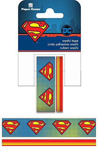 (Paper House Productions Washi Tape, Superman Logo, 2-Pack, None, 2)
