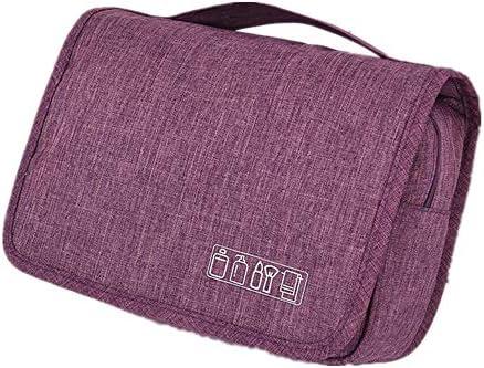 ウォッシュバッグ 防水ハンギングトイレタリーバッグ男性&WomenToiletriesトラベルオーガナイザー トイレタリーバッグ (Color : Purple, Size : Free Size)