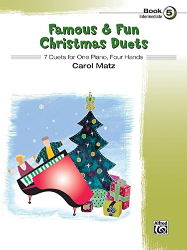 Famous & Fun Christmas Duets, Bk 5: 7 Duets for One Piano, Four Hands PDF