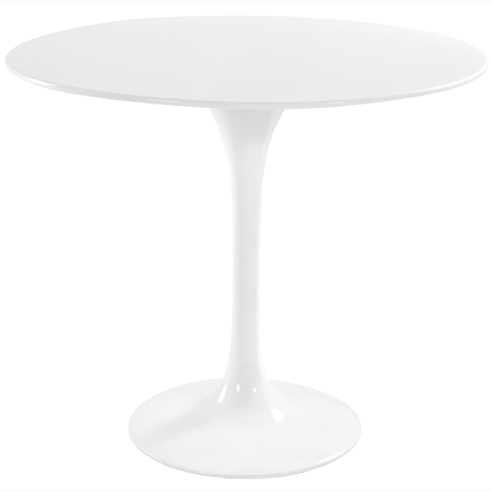 Modernist 36'' Round Fiberglass Pedestal Table in White