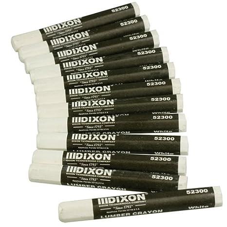 Dixon 52600 Lumber Marking Crayons, Fluorescent Pink, 12-Pack