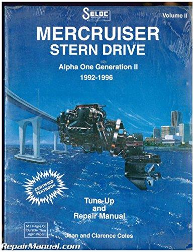 SL3202 Seloc Mercruiser Stern Drive 1992-1996 Alpha One Generation II Boat Engine Repair Manual