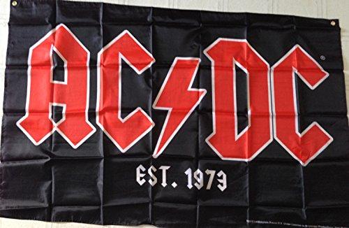 AC/DC house flag band logo AC DC Rock or Bust Tour Official - Dc Ac Flag