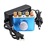 Yeeco Hifi Mini Bluetooth Amplifier AMP 50W+50W 2 Channel Music Audio Stereo Receiver Power Amplifier Board with USA Type Power Supply