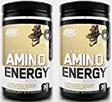 Optimum Nutrition Amino Energy Iced Cafe Vanilla, 30 Servings (Pack of 2)