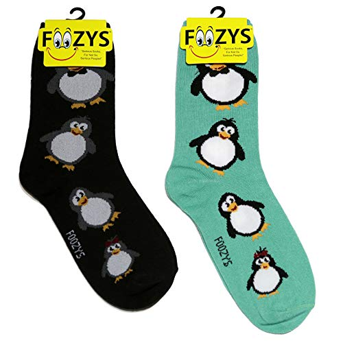 Foozys Women's Crew Socks | Penguin Animal Themed Fashion Novelty Socks | 2 -