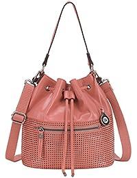 Handbag Womens Ukiah Guava Pink Leather Purse with Drawstring