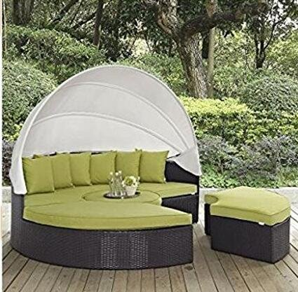 lexmod-quest-circular-outdoor-wicker-rattan-patio-daybed-with-canopy-espresso-yellow-with-nice-gift